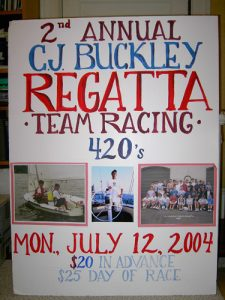 CJ 2nd regatta sign